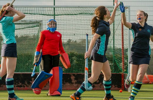 Hockey players at Tormead School