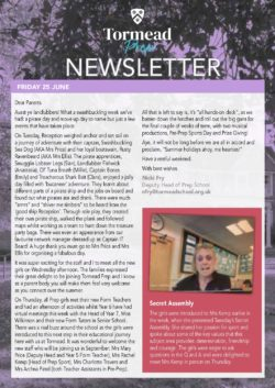 Prep Newsletter 25 June